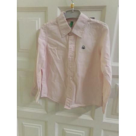 Camisa rosa benetton 3 años