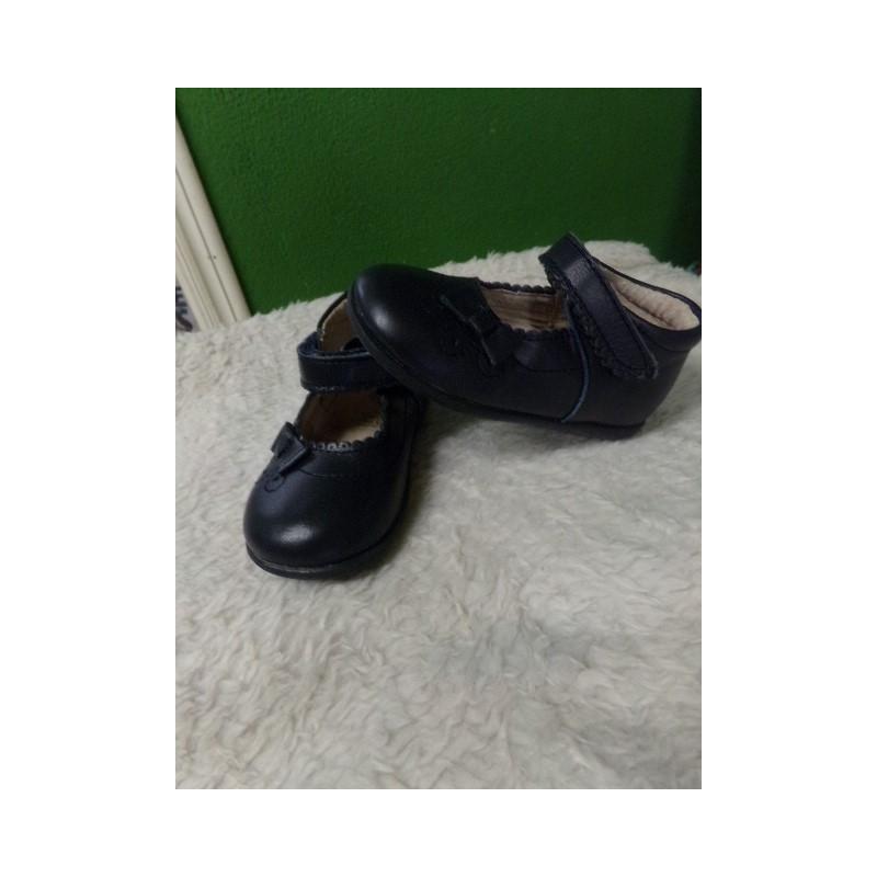 Zapato piel buble marino t23