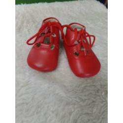 Zapato inglesito rojo talla 16