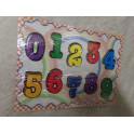 Puzzle madera números. Segunda mano