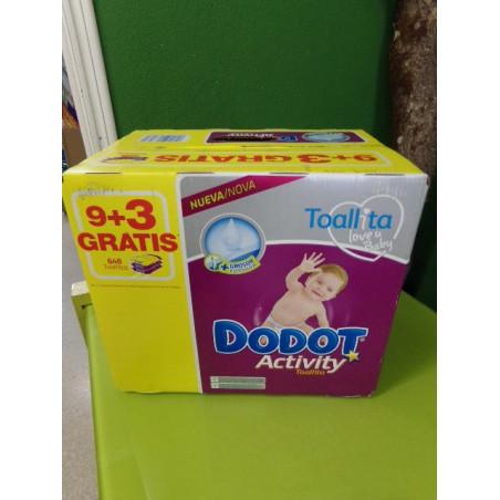 9+3 Toallitas Activity de Dodot. A estrenar