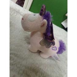 Peluche unicornio 12 cm....