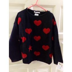 Jersey Zara corazones....