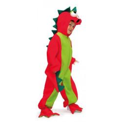 Disfraz de dragón rojo y...