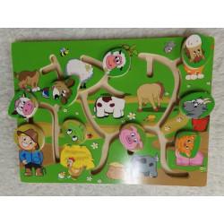 Montessori puzzle madera...