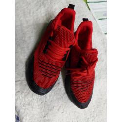 Tenis rojos con luces N...