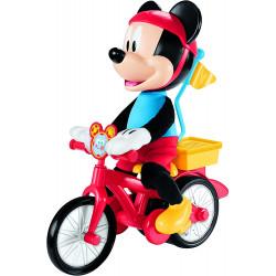 Mickey en su bicicleta...