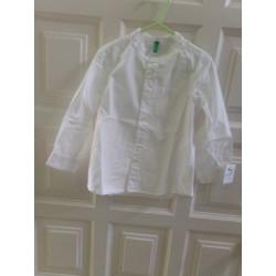 Camisa blanca benetton 2 años