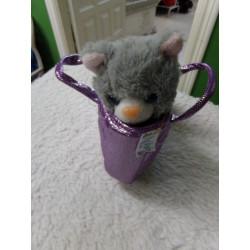 Gatito y bolsito juguete...