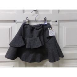 Falda volantes gris 4 años