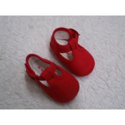 Zapatitos de tela T15 rojos
