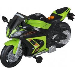 Moto Kawasaki con luces y...