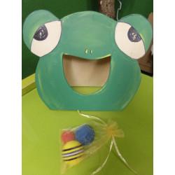 Juego de la rana en madera....