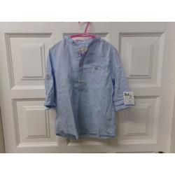 Camisa azul Zara talla 4-5...