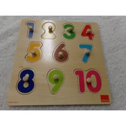 Puzzle de madera números....