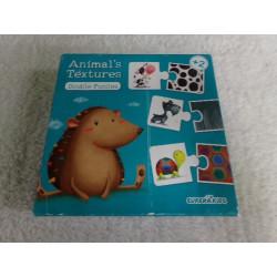 Puzzle textura animales....
