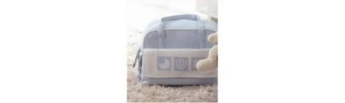 Bolsas maternales y manoplas para el carrito
